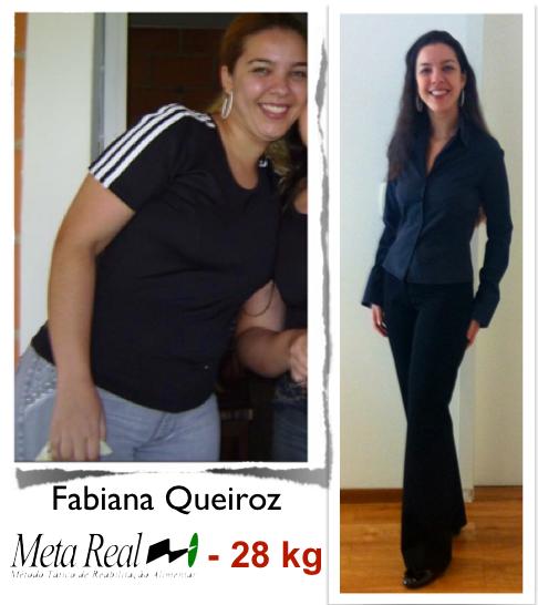 Fabiana Queiroz emagreceu 28 kg com método Meta Real